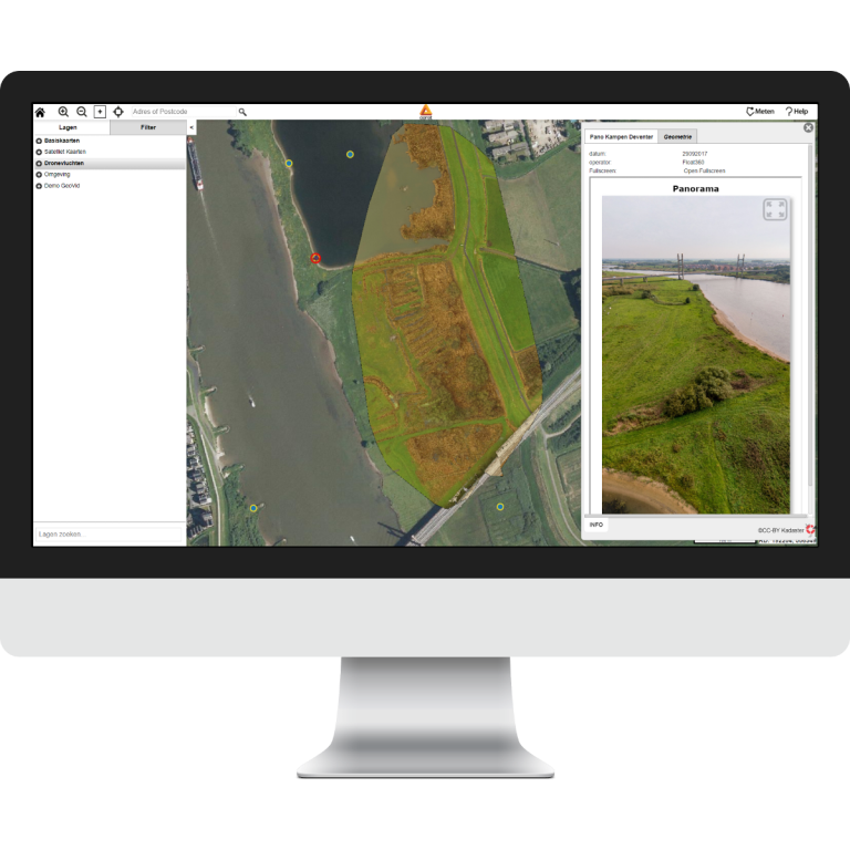 aeret geomaps gis webbased drone data