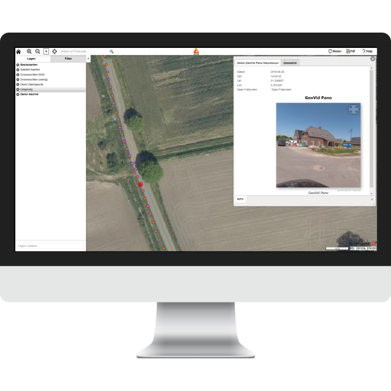 Aeret GeoMaps met 360 Panorama beelden van Aeret GeoVid