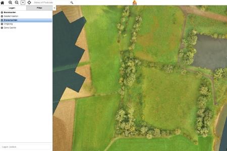 aeret rijkswaterstaat drone vegetatie kartering uiterwaarden natuur voor