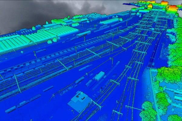 aeret webbased pointcloud elevation colors