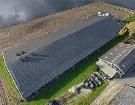 3D model van een dak voor zonnepanelen