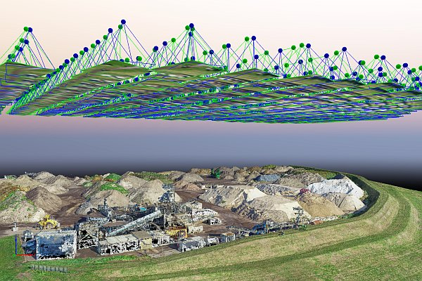 aeret mapping luchtfoto pointcloud 3d hoogtemodel