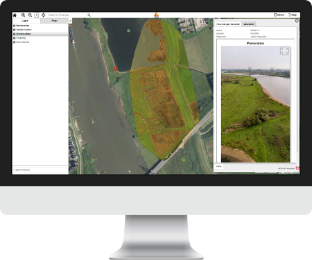 aeret geomaps webbased gis orthofoto panorama viewer