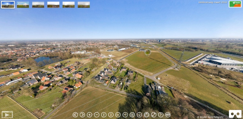 360 graden panorama luchtfoto drone