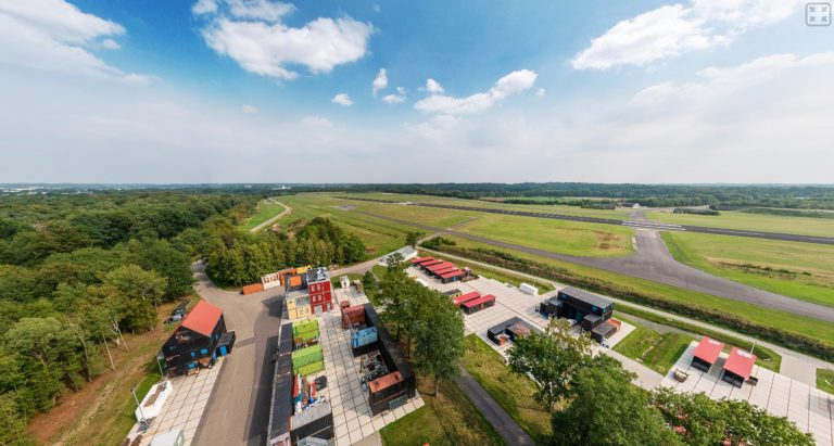 panorama luchtfoto vliegbasis twente technoly base