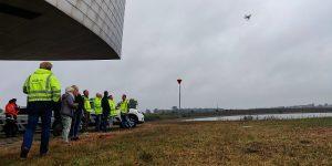 Aeret GeoMaps bij oefening Rijkswaterstaat Drone Team