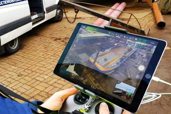 drone inspectie schip scheepsmeting volume droogdok aeret