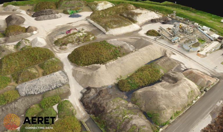 3d model grond depot drone aeret volumecalculatie grondverzet voorraad3d model grond depot drone aeret volumecalculatie grondverzet voorraad