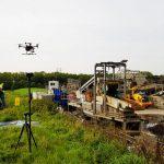 drone invliegen 3d model grond depot volume calculatie rtk aeret