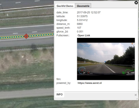 aeret geovid geogerefereerde video gps coordinaten video op kaart