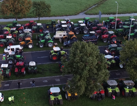 aeret photo2gis geomaps boerenprotest tractor drone luchtfoto