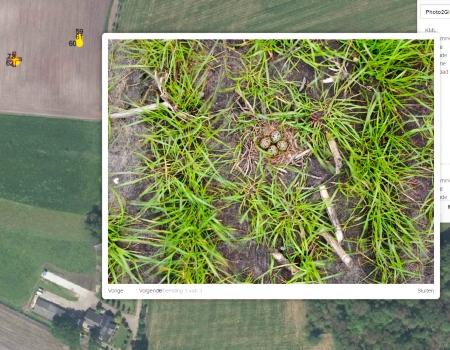 drone weidevogel locatie nest weidevogelnest gps coordinaten kaart luchtfoto