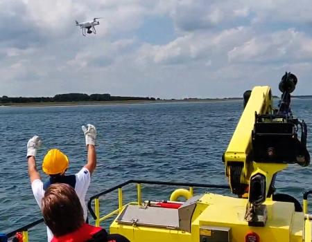 photo2gis drone inzet oefening calamiteit incident water schip vaartuig delen data foto coordinaten kaart