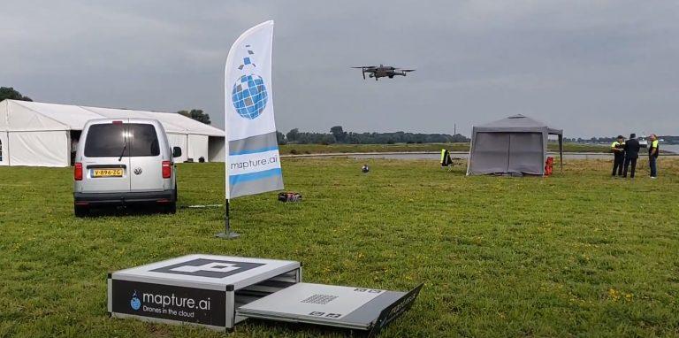 drone2go rijkswaterstaat demo dag dronebox airhub mapture kpn aeret
