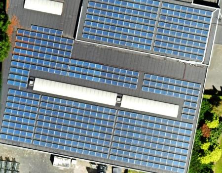 Mapping met drone van zonnedaken